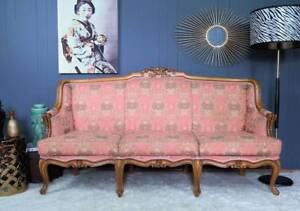Pink Brocade Vintage French style Sofa Leichhardt Leichhardt Area Preview