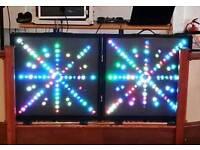 Pair disco led lights