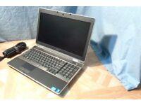 "DELL LATITUDE E6520 15"" LAPTOP. 8GB RAM/320GB HDD/2.4 GHZ INTEL CORE i5/MICROSOFT OFFICE LAPTOP"