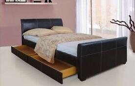 Sleepeezee 4 x Drawer Sleigh Storage Bed With Add Sleepeezee Mattress Option
