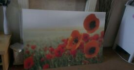 Extra Large Canvas Print 'Poppy Field'