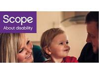 Support workers needed for Scope in Croydon