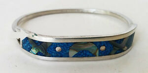 Silver Bracelet Stamped Mexico Sterling (PIERREFONDS)