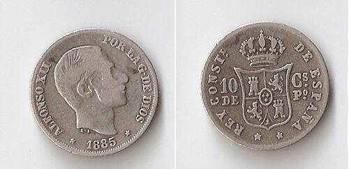 Philippines 10 centavos 1885