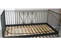 Ikea metal black daybed (single) princess bed