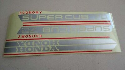 Honda C70 Gas Tank Side Covers Paper Stickers Logos Emblems H2250