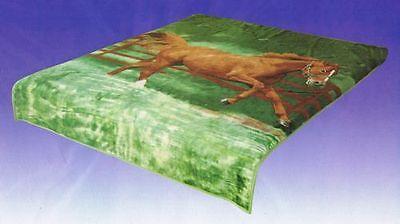 Horses Blanket Throw Queen Size Soft Bedding Original