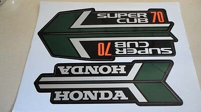 Honda C70 Super Cub 70 Green Paper Stickers Logos Emblems H2298