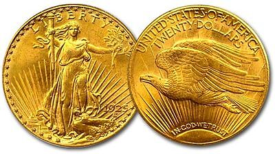 CH/GEM BU NGC / PCGS MS63 RANDOM COMMON DATE $20 SAINT GAUDENS GOLD U.S. COIN