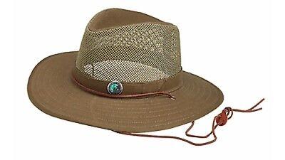 BOY SCOUT JAMBOREE MESH SAFARI HAT AND PIN LEATHER CHIN STRAP NEW Sz S L XL 2XL