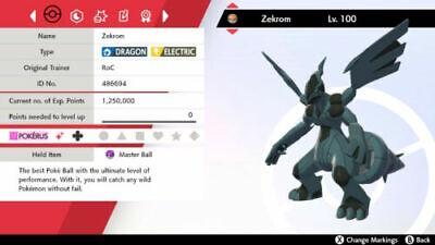 ✨SHINY✨ 6IV ZEKROM Pokémon Sword & Shield (BATTLE READY)