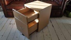 2 Drawer Beech Veneer Home Office Cabinet/Pedestal