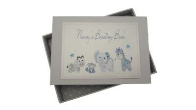 White Cotton Cards Nanny's Boasting Book Tiny Photo Album Toys Range Blue