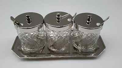 Botes de Cristal Tableau Envase Tableta Konfitüre Metal Desayuno Nuevo 51048