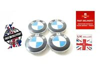 BMW 4 x 68 mm Wheel Centre Caps Badges Fits E34 E36 E39 E46 E60 1 3 5 7 8 Series