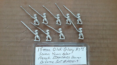15mm Old Glory  7 Years war French  Standard Bearer - 9 Year Old Games