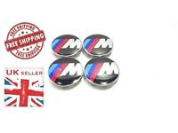 Brand New 4 BMW M Sport Wheel Centre Caps 68 mm Diameter To Fit a Number of BMW