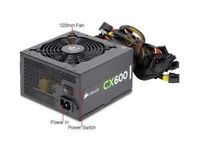 A CORSAIR CX600 BRONZE SERIES ATX PC PSU POWER SUPPLY