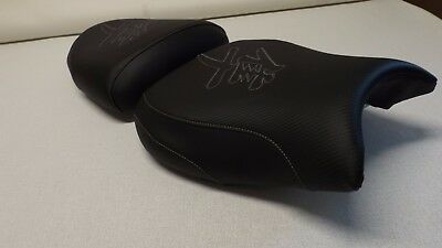 HAYABUSA 99/00/01/02/03/04/05/06/07 GSXR1300 FRONT&REAR SEAT COVERS BLACK CARBON