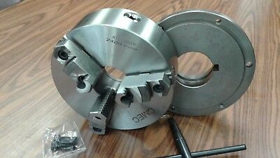 10 3-jaw Self-centering Lathe Chuck Topbottom Jaws W. L1 Back Adapter Plate