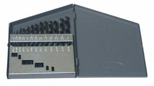 Drill America 13 Piece High Speed Steel Screw Machine (Stub) Drill Bit Set (1/16