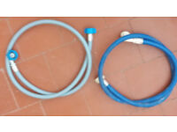 Brand new Zanussi washing maching inlet hose and used blue hose