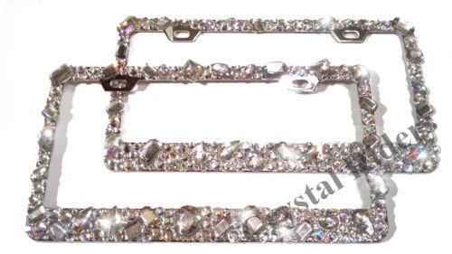 sparkle license plate frame ebay