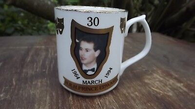 1994 Prince Edward's 30th Birthday China mug Only 100 made