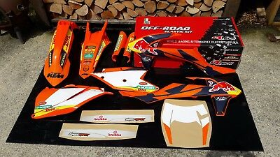 2017 2018 KTM EXC PLASTICS AND GRAPHICS PACKAGE