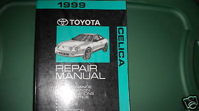 1999 Toyota Celica Service Repair Shop Workshop Manual OEM Factory Engine WATER
