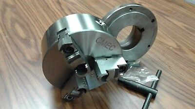 6 3-jaw Self-centering Lathe Chuck Top Bottom Jaws W. L0 Adaper Plate