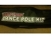 Hot Pink Portable Dance Fitness Pole