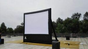 PVC Movie Screen 157*118 inch NEW with 110v blower