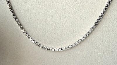 925 ECHT SILBER *** Venezianer Kette 4eck-Profil, 36 cm