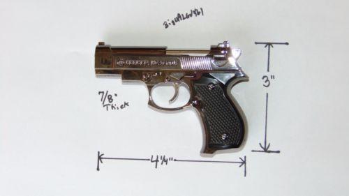 Black Beretta M92G CQB Shaped Novelty Pistol Gun Jet Torch Lighter USA Stocked