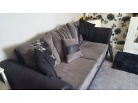 large sofa and swivel cuddle chair