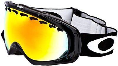 Oakley Crowbar Goggles Gafas de ventisca Jet Black Fire Iridium Snow Esqui...