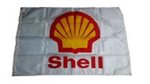 Vintage Shell Flag from 1980