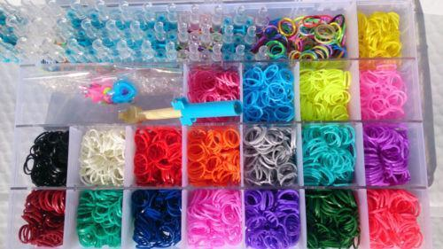 Rainbow Loom Rubber Band Organizer Box Ebay