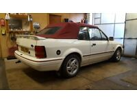 Ford escort mk4 XR3I 1989, convertible / cabriolet, mint, new roof etc.