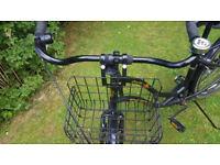 Kona Africa Black Dutch Style Ladies Bike 15 inch frame fully working, stand, basket, locking wheel.
