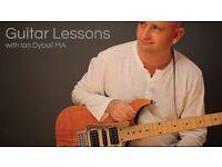 Professional modern guitar & ukulele lessons with teacher Ian Dyball MA. Great Yarmouth & Wymondham.