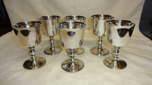 how to clean silver plated goblets