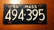 Mass License Plate