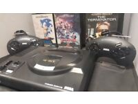sega megadrive Console with Six games in perfect condition