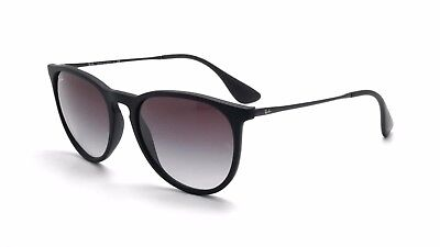 Ray-Ban Women's Grey Gradient Erika RB4171 622/8G 54-18 Black Round Sunglasses