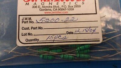 5 Pcs 5300-22 Jw Miller Fixed Rf Inductor 56uh 10