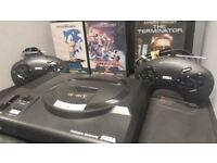 sega megadrive with Six games in perfect condition