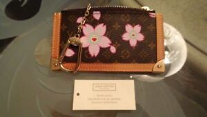 AUTHENTIC RARE LOUIS VUITTON CHERRY BLOSSOM COIN CLES WALLET