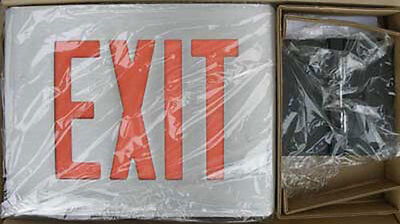 New Dual-lite Cvd2rabn Cast Aluminum Led Exit Sign Double Face Red